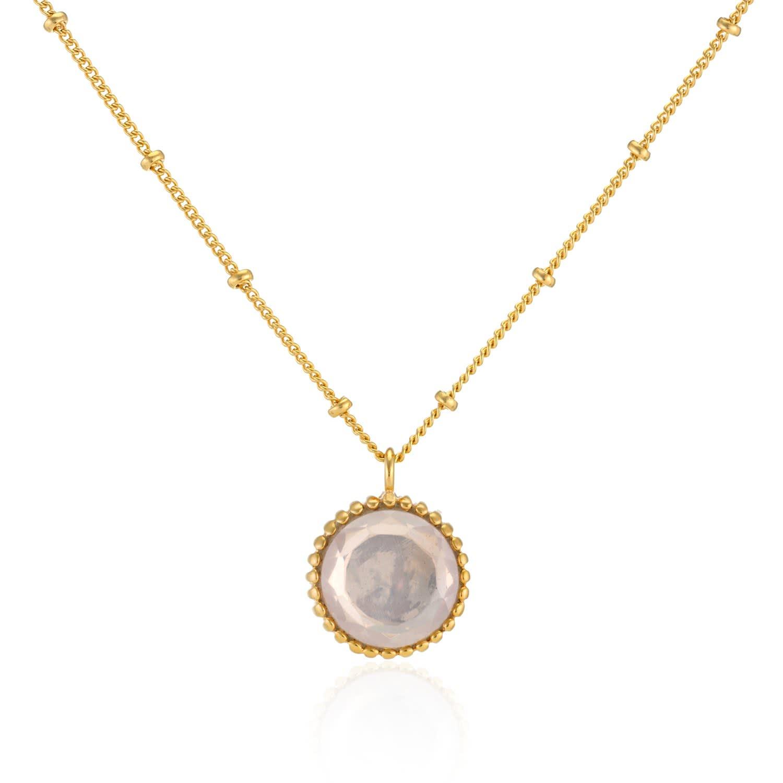 discount shop good looking sale Barcelona October Birthstone Necklace Rose Quartz | Auree ...