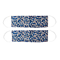 Pack Of 2 Silk Face Masks With Integrated Filter In Liberty Fabric In Small Floral Print image