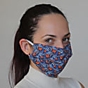 Pack Of 3 Reusable Protective Cloth Masks With Integrated Filter In Blue & Red Floral image