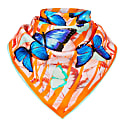 Scarf Orange Butterfly image