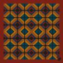 The Tile Pocket Square Rust image