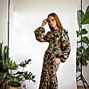 Ann - Dark Forest Floral Cotton Dress image