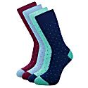 Dots Bamboo Socks Set Of 4 - Blue & Purple image