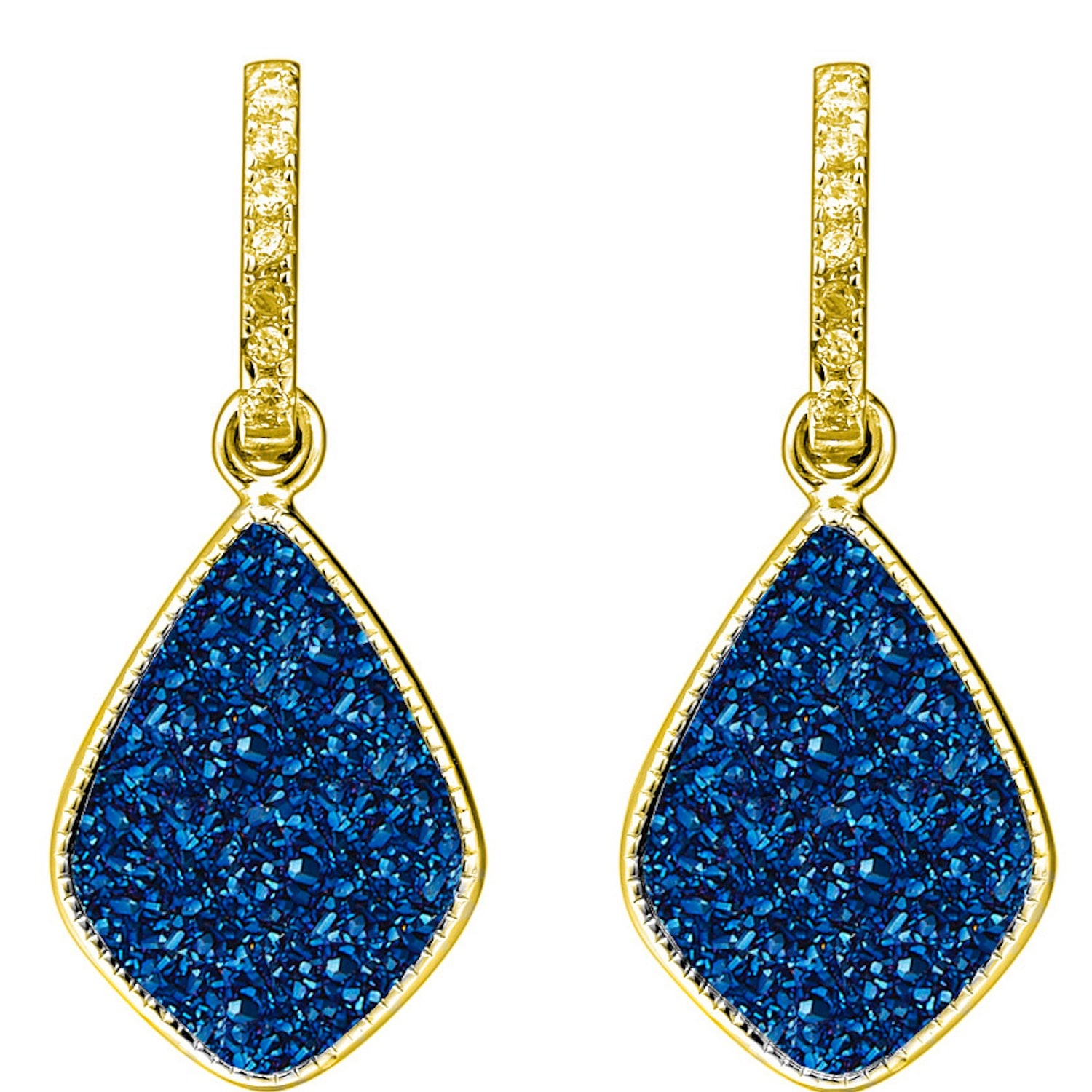 Elara's Blue Star Earrings