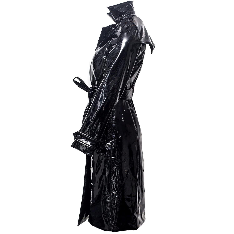 classic chic in stock elegant in style Black Vinyl Trench by VHNY