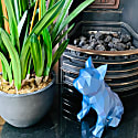 French Bulldog Geometric Sculpture - Frank In Metallic Blue image