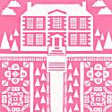 Manor Garden Screen Print in English Rose image