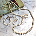 White Round Freshwater Pearls Multi-Way Necklace image