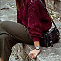 Amalfi Petite Vegan Leather Watch Rose Gold, Grey & Tan image