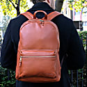 Sarcina | Leather Backpack In Cognac image