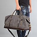 Zip Detail Water Repellent Holdall In Iron Grey image