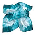 Turquoise Silk Neckerchief Scarf image