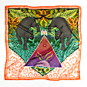 Twin Panthers Silk Scarf - Square image