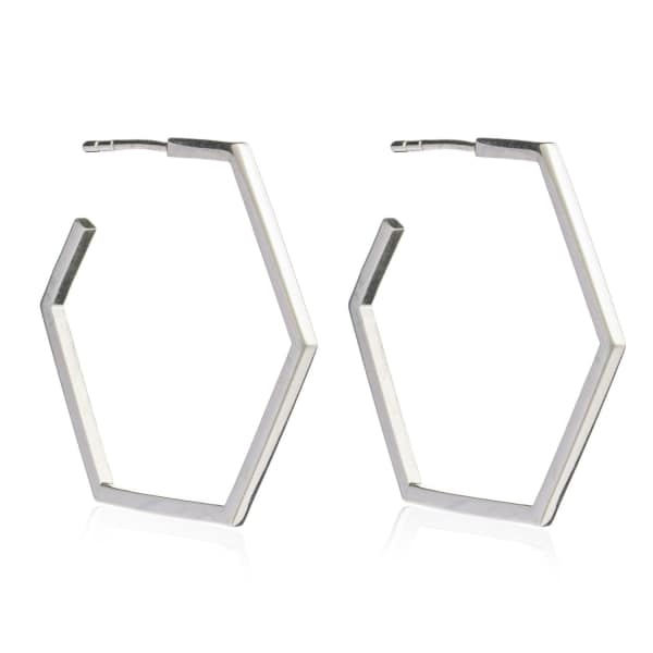Large Serenity Hoops Silver