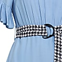 Dress With Ruffle Detail - Blue image