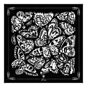 The Tropical Butterfly Pocket Square Black image