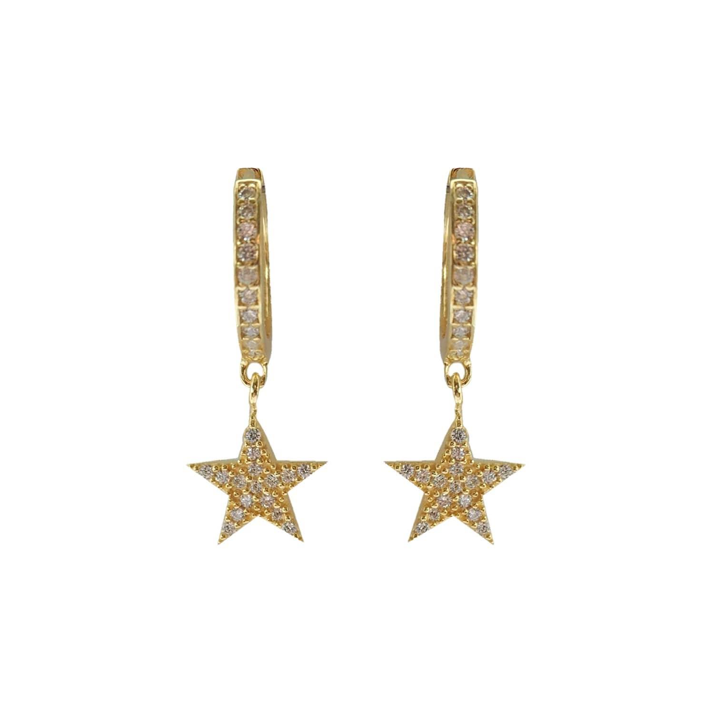 e269113a4206e Midas Star Mini Hoop Earrings Gold by Wild Hearts