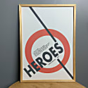 Heroes David Bowie Inspired Retro A3 Art Print image