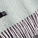 Evening Tales Pure New Wool Blanket - Traditional Herringbone Mint Grey image