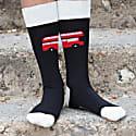 Black & Cream London Bus Men's Socks 2 Pack image