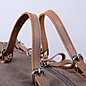 Baguette Style Waxed Canvas Gym Bag In Chestnut Brown image