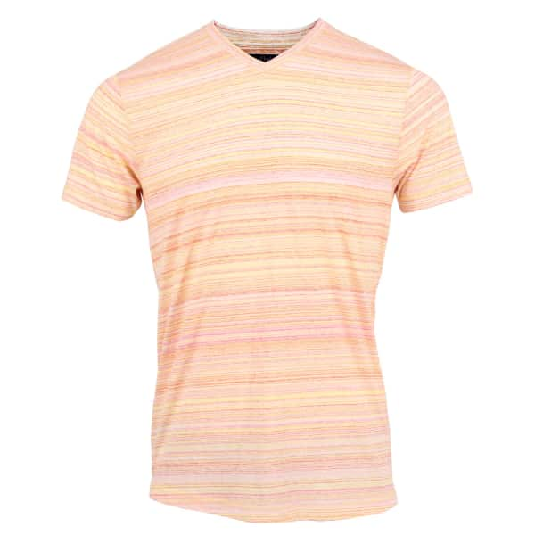 LORDS OF HARLECH Maze Tee In Streaky Gold Spacedye