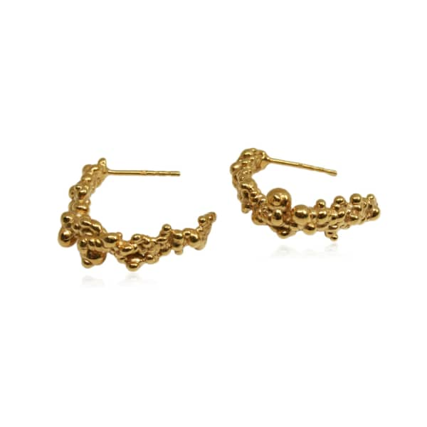 KAROLINA BIK JEWELLERY Mammatus Round Gold Earrings