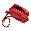 The Gigi Crossbody Leather Bag Ferrari Red image