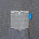 Athletic Grey Marker Print Organic Cotton T-Shirt image