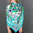 Silk Scarf With Moroccan Square Mystique image