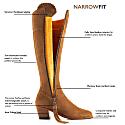 The Heeled Regina Tan Narrow Fit - Suede Boot image