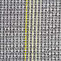 Boutique Hand Embroidered Charcoal Yellow Square image