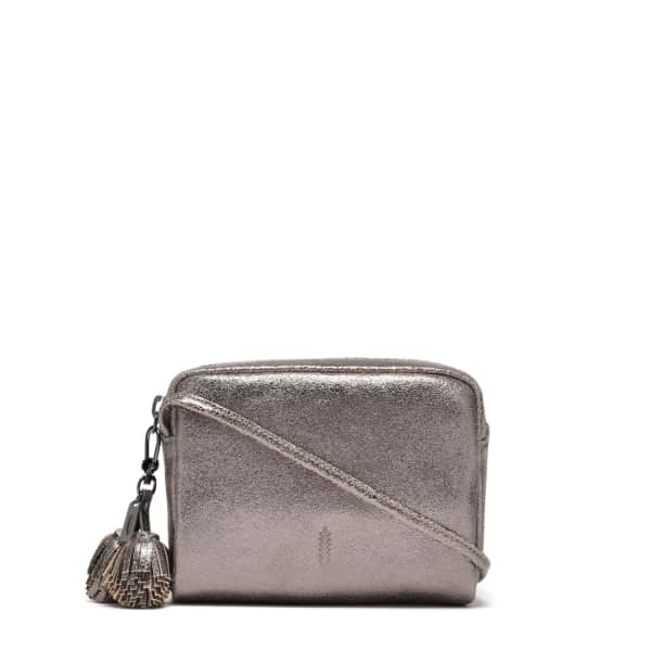 THACKER NEW YORK Pompom Bag In Pewter in Grey