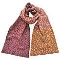 Dash Wide Scarf In Brown, Blue, Yellow & Pink image