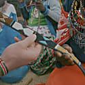 Hand-Beaded Maasai Mwezi Belt Wide image