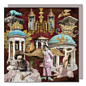 Collection Of Five Greeting Cards With Envelopes featuring Vintage Collages image