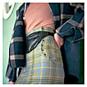 Dual High-Waisted Skirt In Scottish Tartan 100% Wool image
