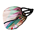 Triple Layer Silk Face Mask With Filter Pocket, Adjustable Straps & Nose Wire Multi Colored Printed Silk image