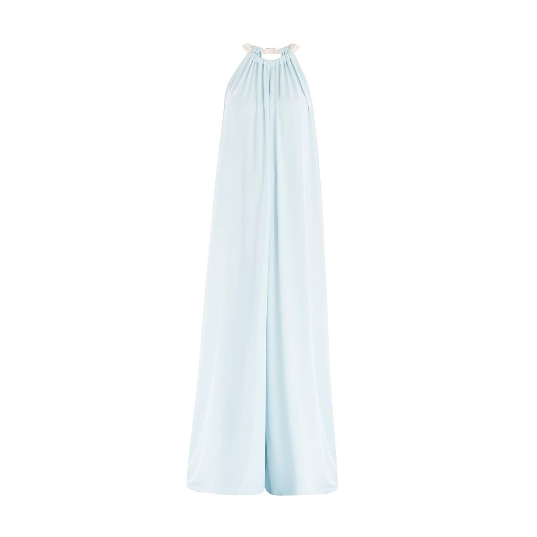 3d7c008da3 Two Tone Halter Neck Jumpsuit with Pastel Belt in Light Blue   White ...