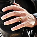 Gold Plated Sterling Silver Crown Ring image