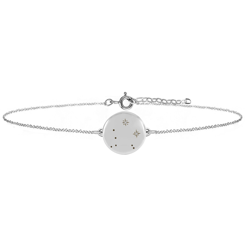 No 13 - Libra Zodiac Constellation Bracelet Diamonds & Silver