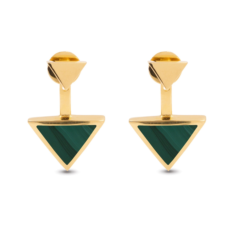 KIMSU - Triangolo Ear Jackets Gold