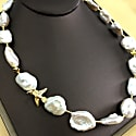 Freshwater Pearls & Bird Charm Short Necklace image