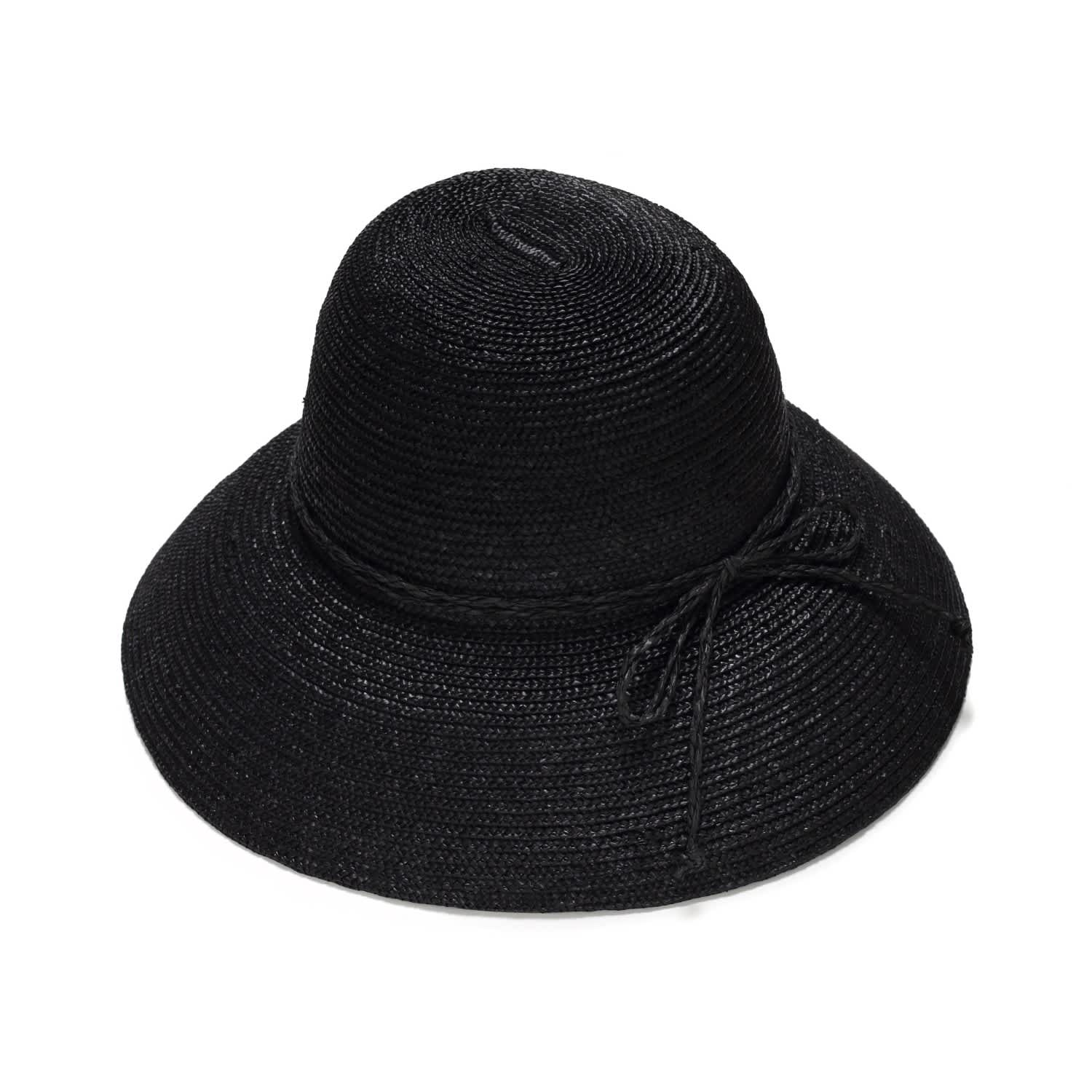 ad080d5d5f7b5 Black Cloche Straw Hat image