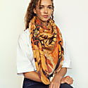 Cashmere Silk The Kyoto Street Party Scarf - Chestnut image