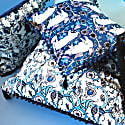 The Decorative Thistle Blues Rectangle Cushion image