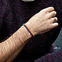 Handmade Vegan Orange & Blue Rope Bracelet image