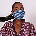 Tie Dye Clear Blue Cotton Face Mask image