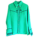 Embroidered Cowboy Shirt Jade Green image