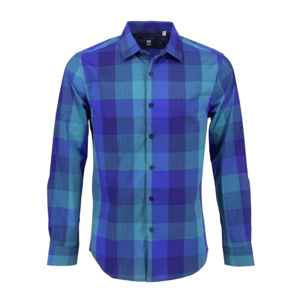 LORDS OF HARLECH Nigel Shirt In Block Cold Plaid